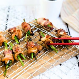 Bacon Wrapped Asparagus LowCarbingAsian Cover 2