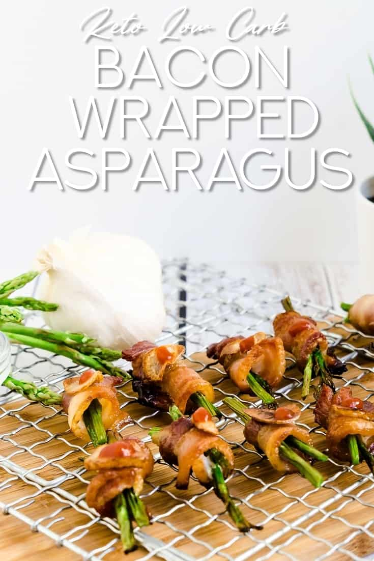Bacon Wrapped Asparagus LowCarbingAsian Pin 1