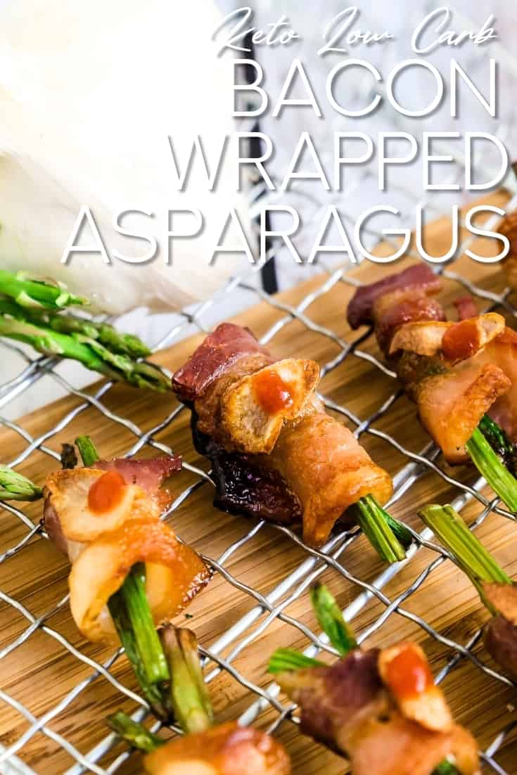 Bacon Wrapped Asparagus LowCarbingAsian Pin 3