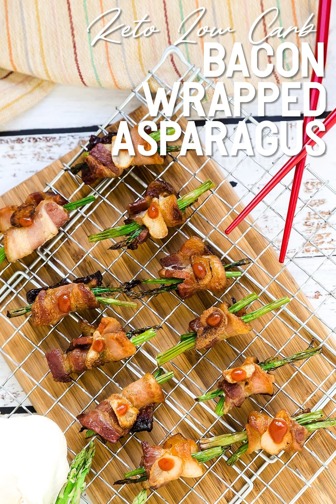 Bacon Wrapped Asparagus with Chopsticks