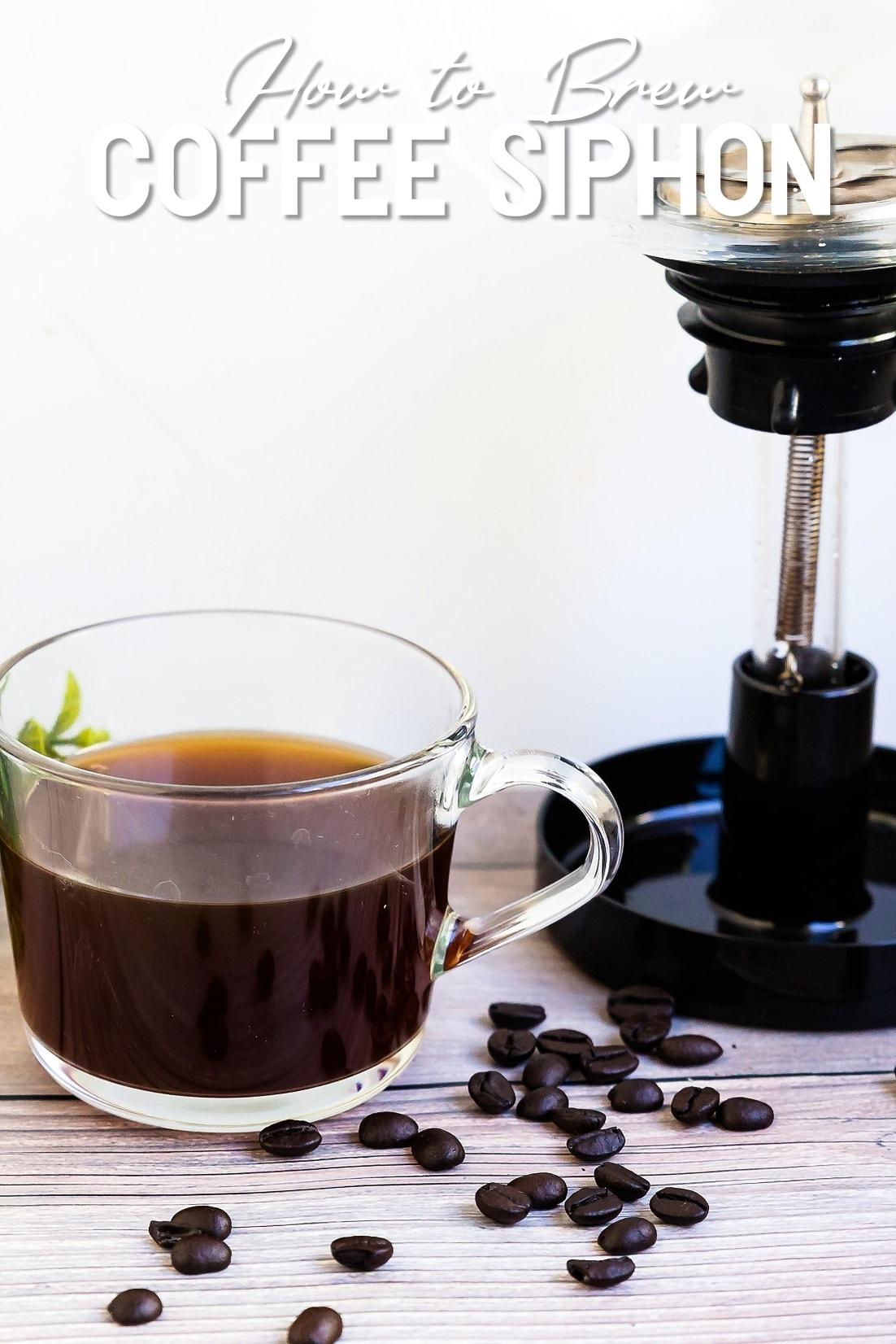 Coffee Siphon with a Mug