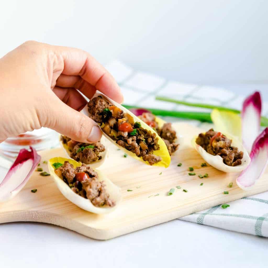 Ground Beef & Mushroom Endive LowCarbingAsian Pic 2