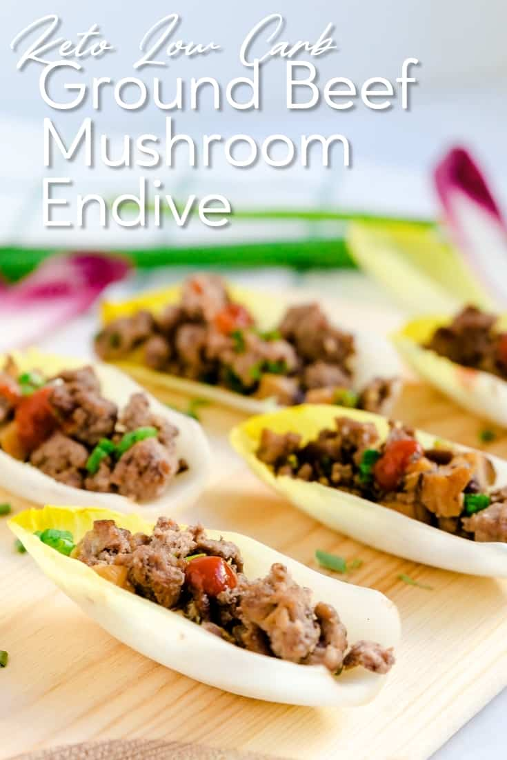 Ground Beef & Mushroom Endive LowCarbingAsian Pin 1