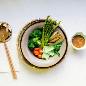 keto Steamed Veggie w Sesame Sauce cover