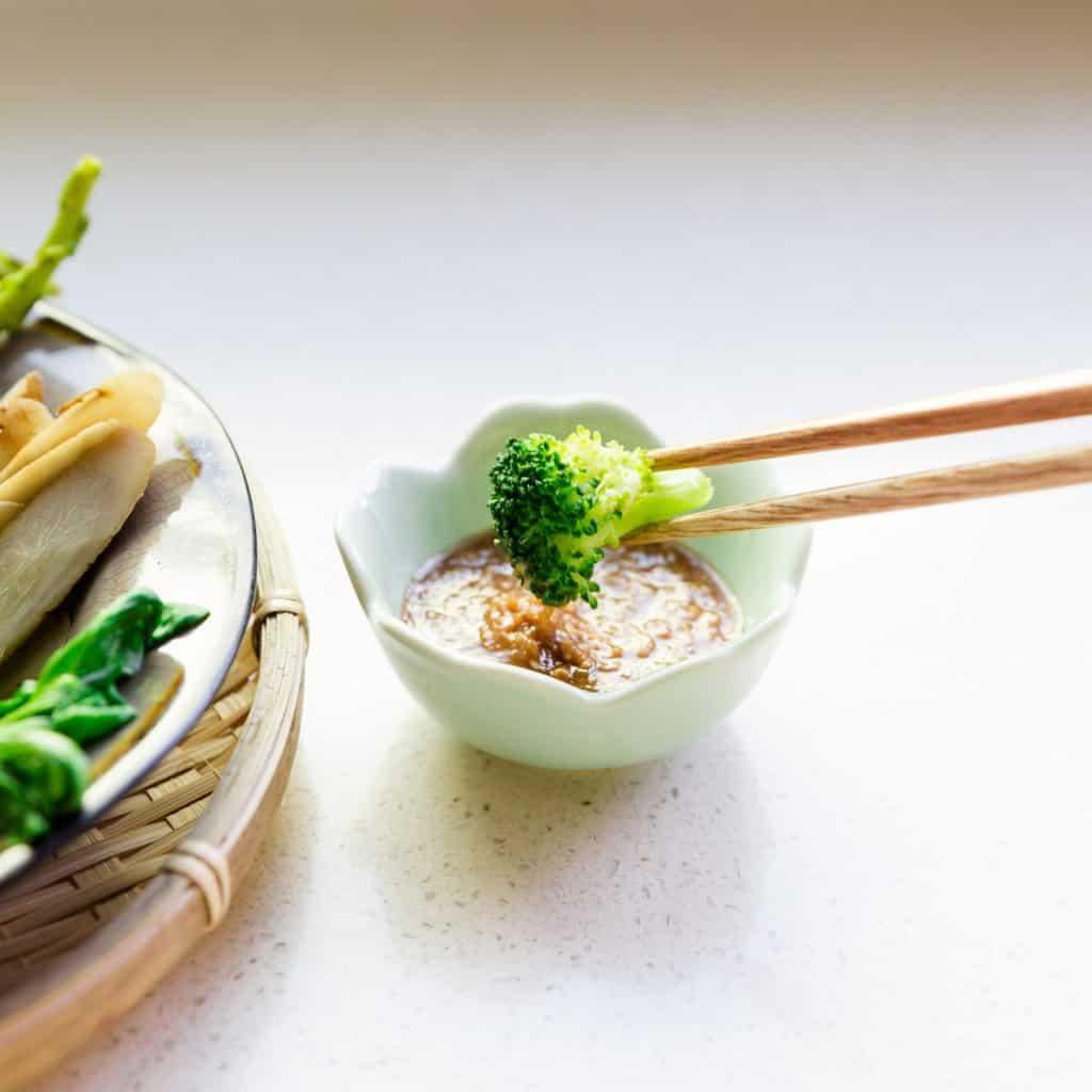 keto Steamed Veggie w Sesame Sauce pic