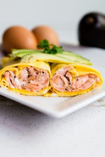 keto Salmon Cream Cheese Egg Roll Up cover