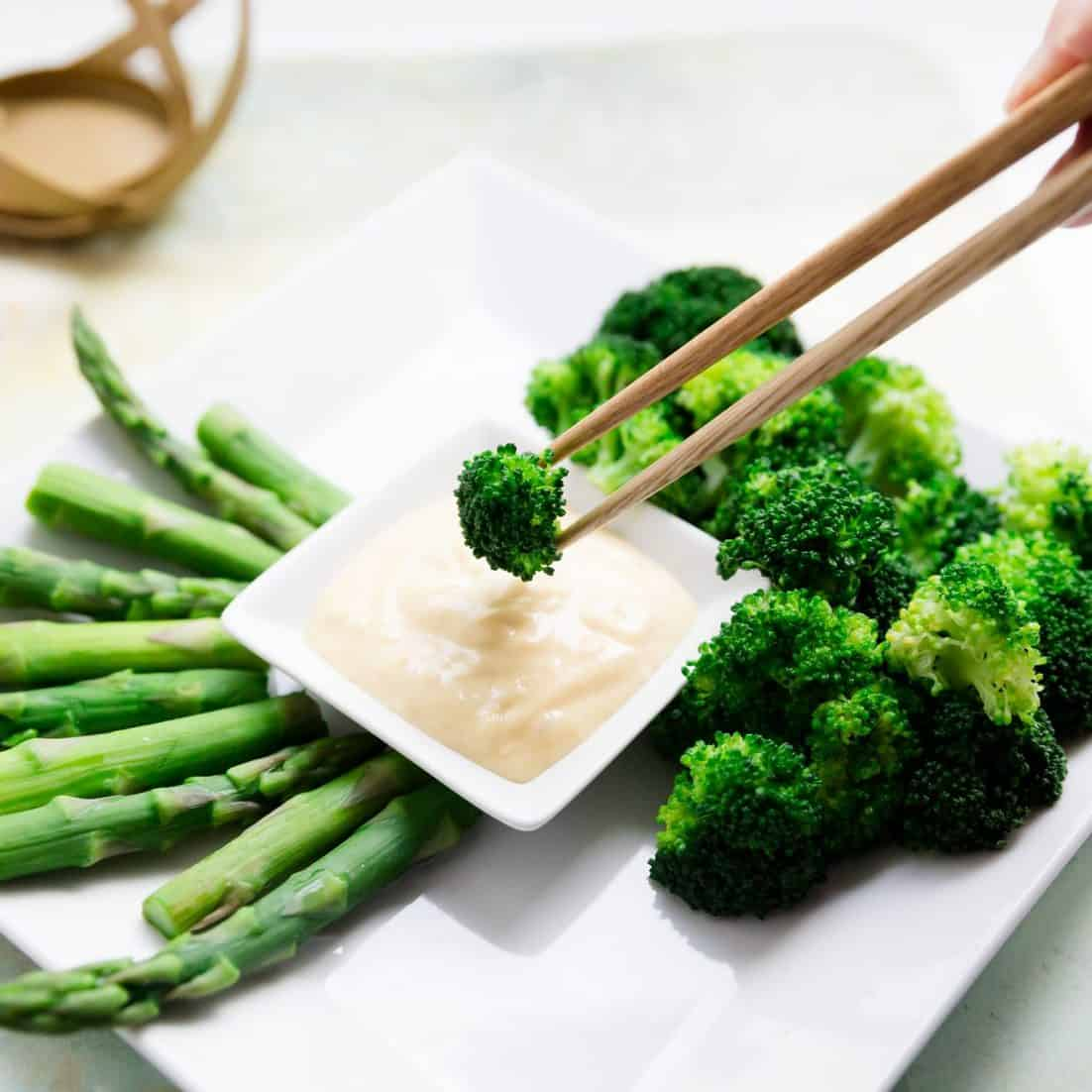 keto low carb Miso Mayo Vegetables pic