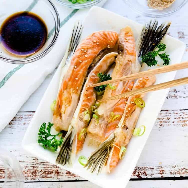 Japanese Baked Salmon Belly LowCarbingAsian Cover 2