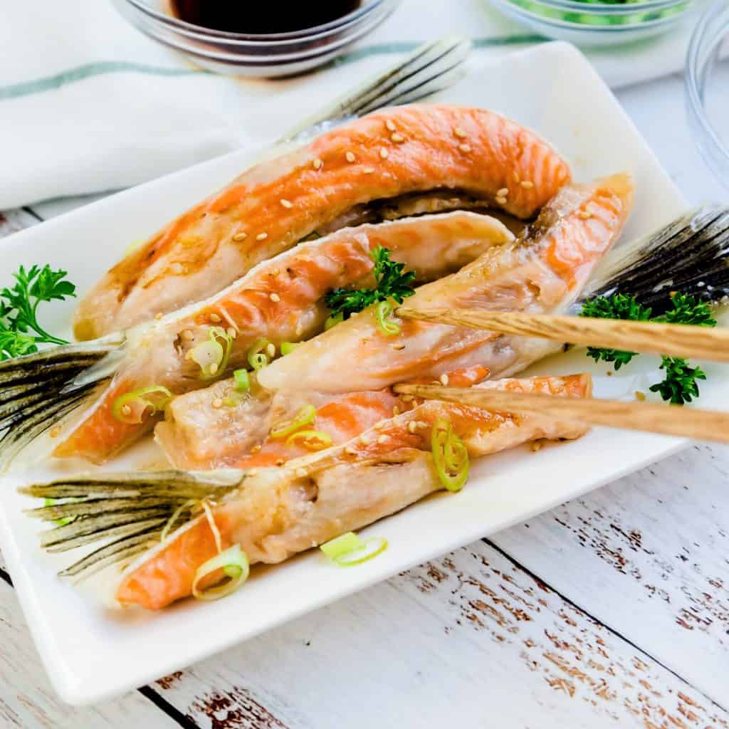 Japanese Baked Salmon Belly LowCarbingAsian Pic 1