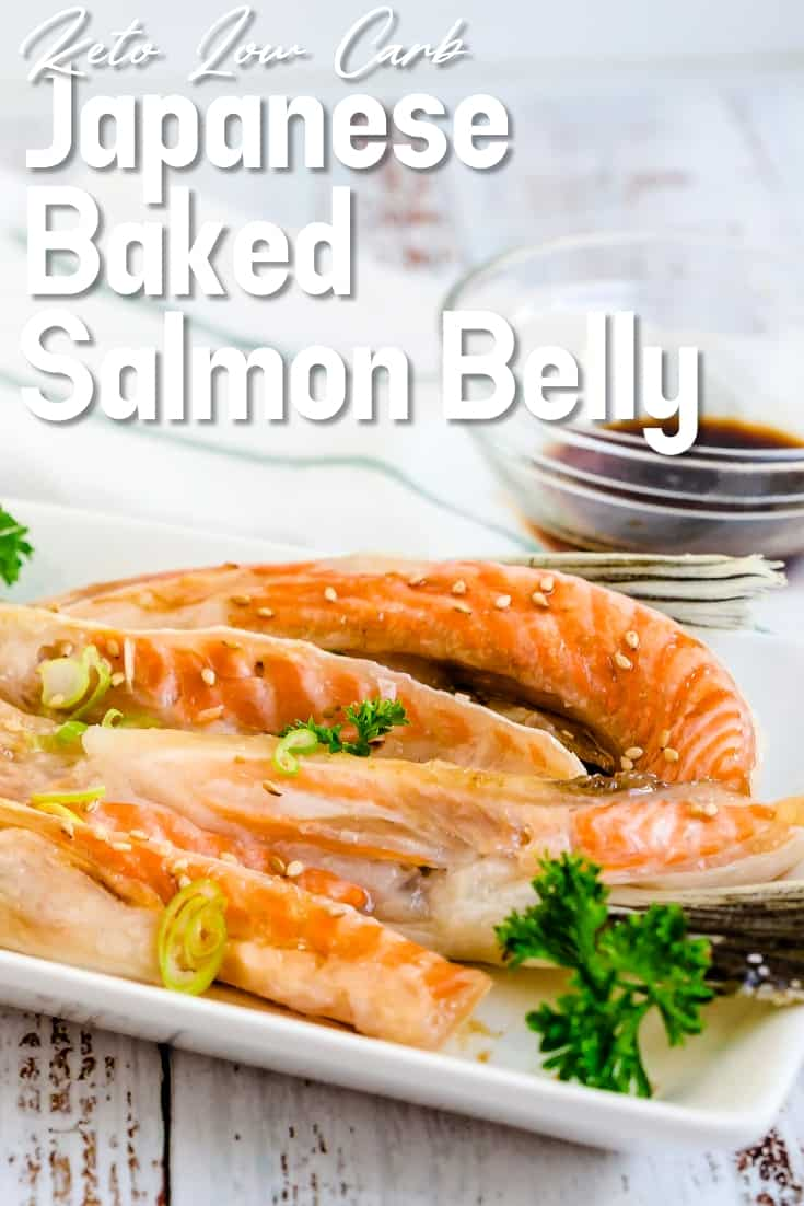 Japanese Baked Salmon Belly LowCarbingAsian Pin 1