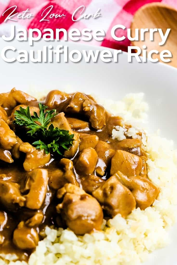 Japanese Curry with Cauliflower Rice LowCarbingAsian Pin 1