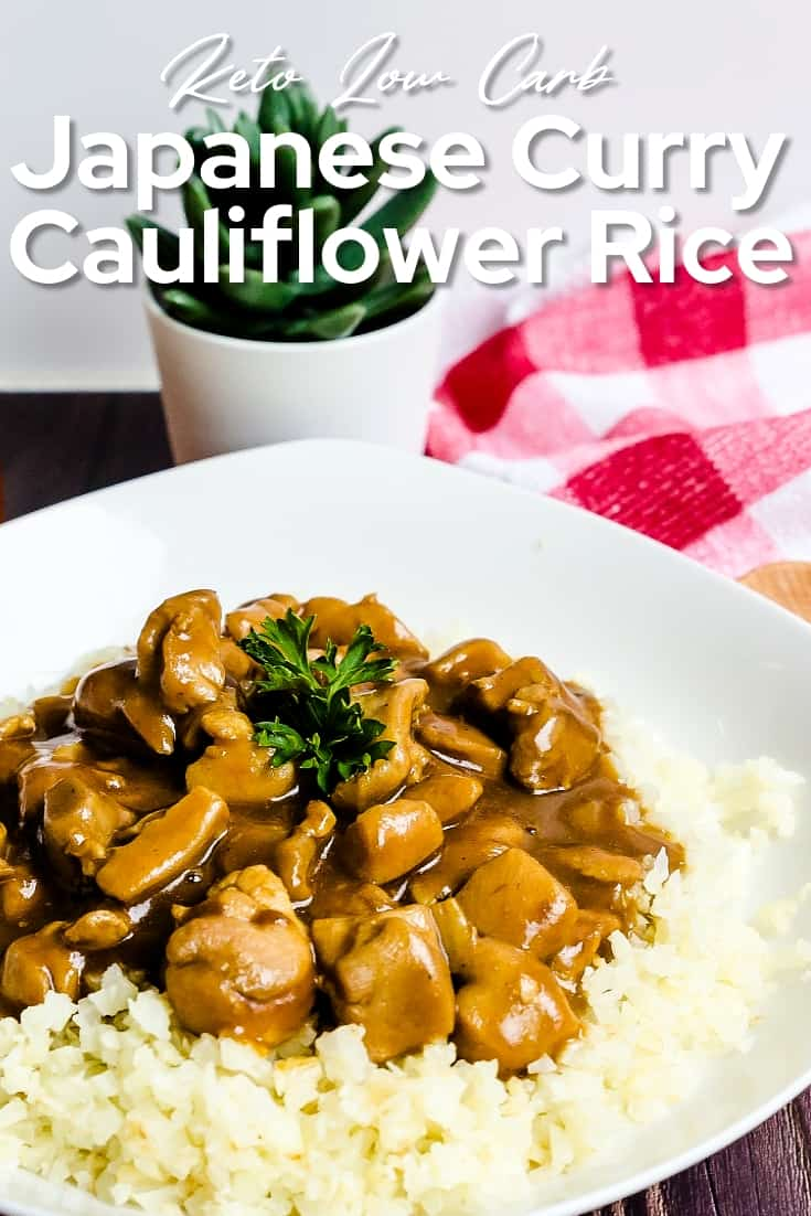 Japanese Curry with Cauliflower Rice LowCarbingAsian Pin 2