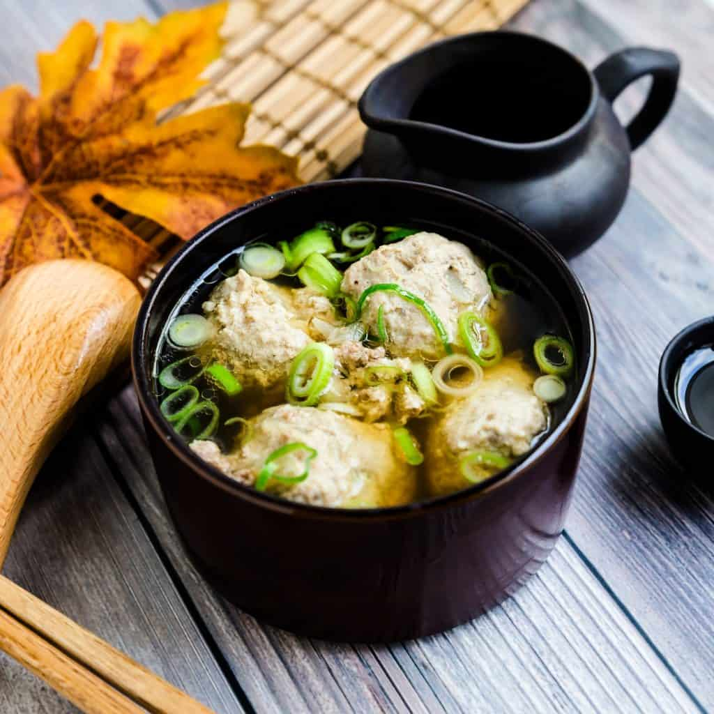 Japanese Meatball Dango Soup LowCarbingAsian Pic 2