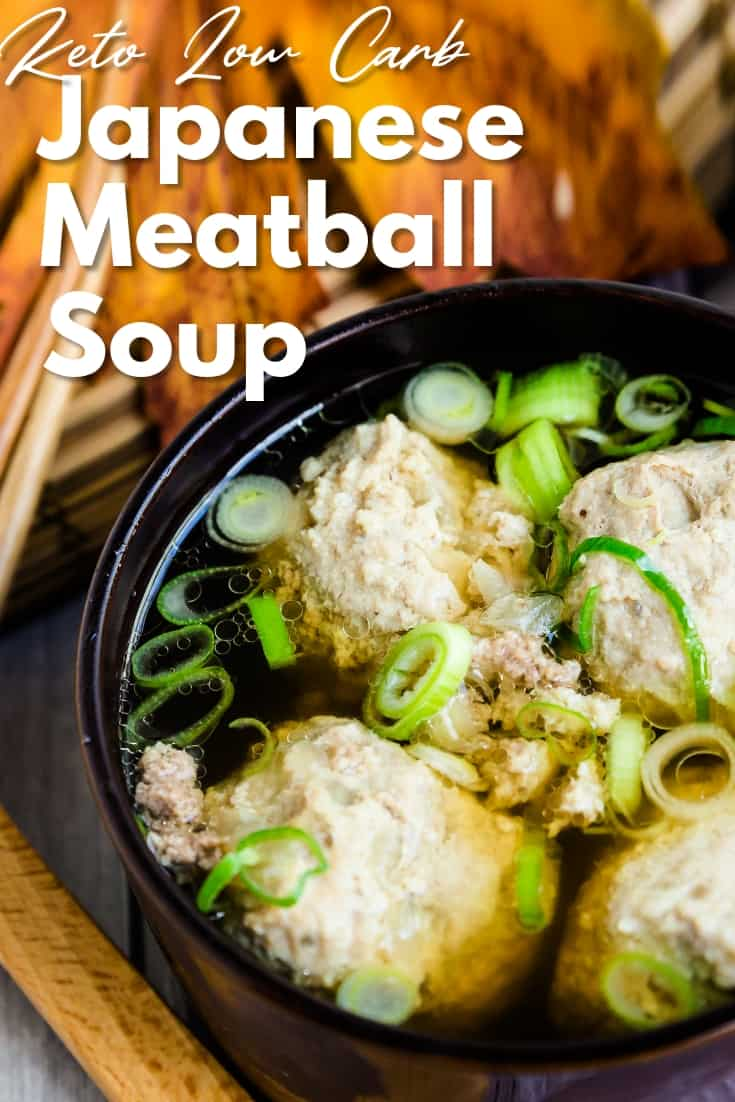 Japanese Meatball Dango Soup LowCarbingAsian Pin 1