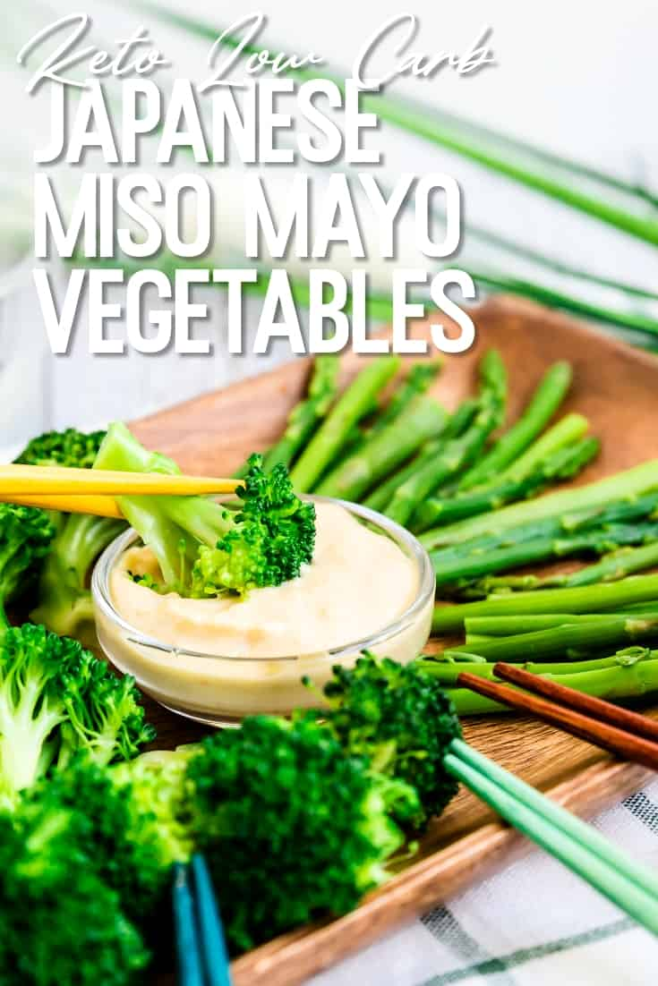Japanese Miso Mayo Vegetables