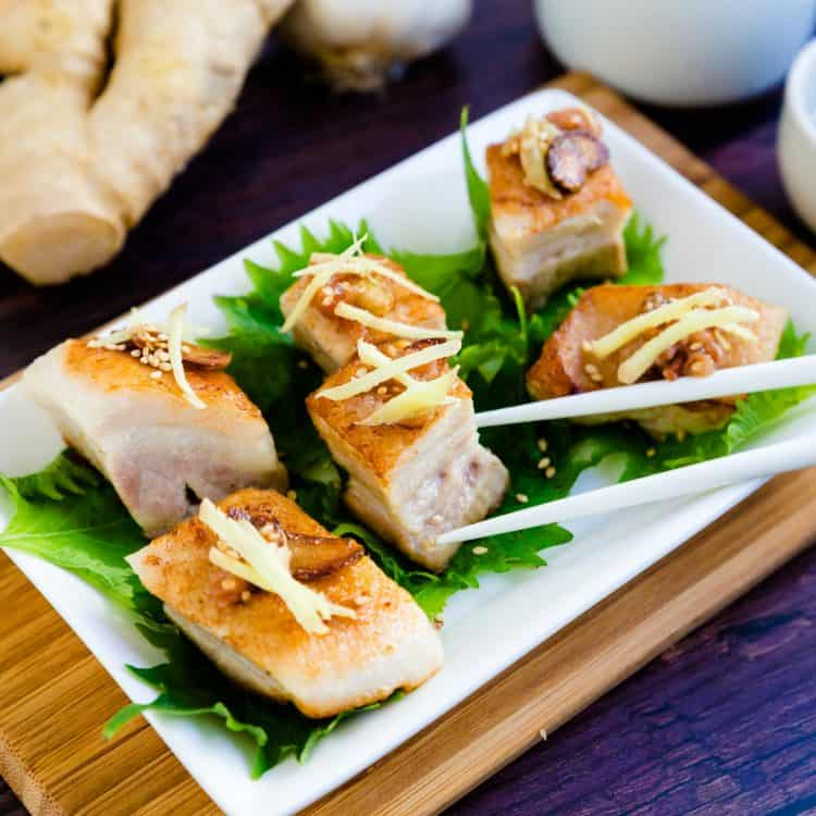Japanese Style Seared Pork Belly LowCarbingAsian Cover