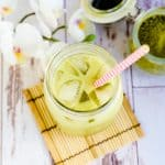 Keto Iced Matcha Latte LowCarbingAsianCover