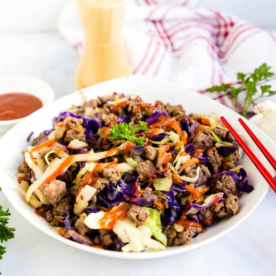 10 Minutes Easy Asian Crack Slaw Lowcarbingasian