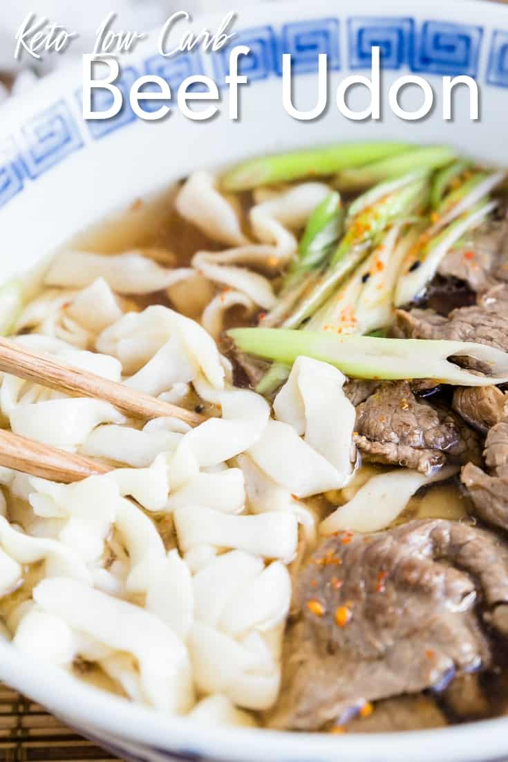 Keto Low Carb Beef Udon
