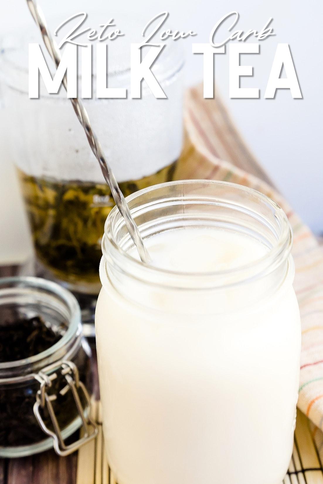 Keto Low Cab Milk Tea Stirring