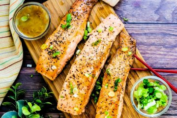 Keto Low Carb Yuzu Japanese Style Seared Salmon LowCarbingAsian Cover 4