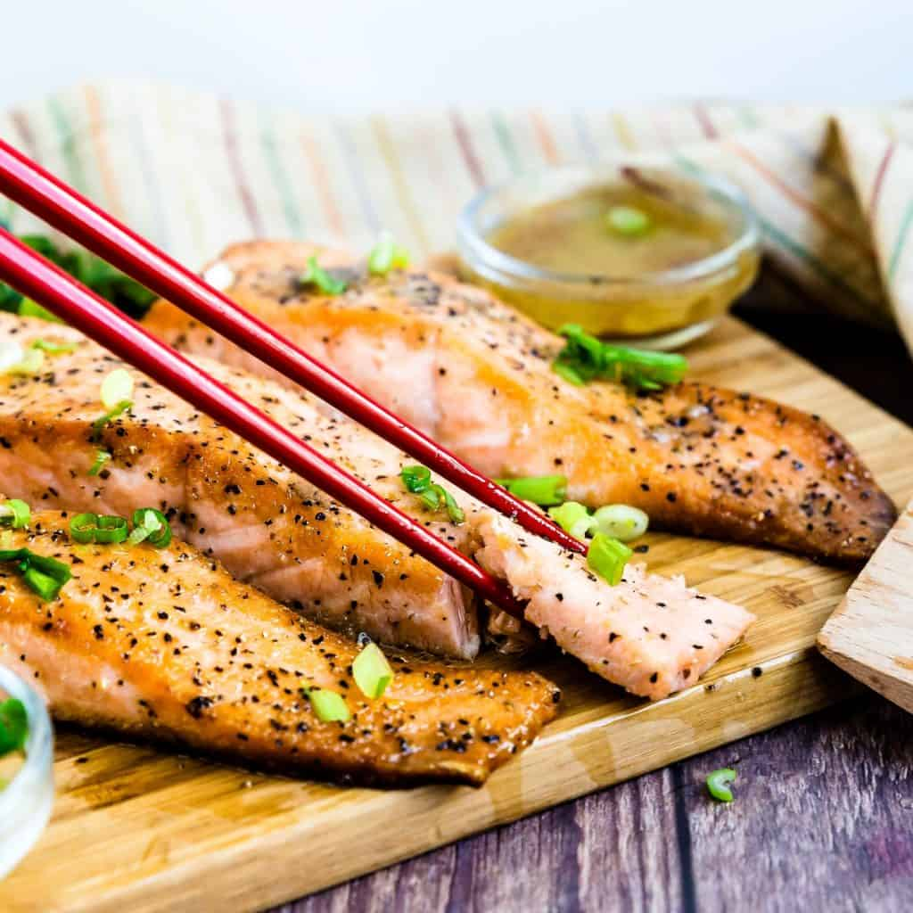 Keto Low Carb Yuzu Japanese Style Seared Salmon LowCarbingAsian Pic 1