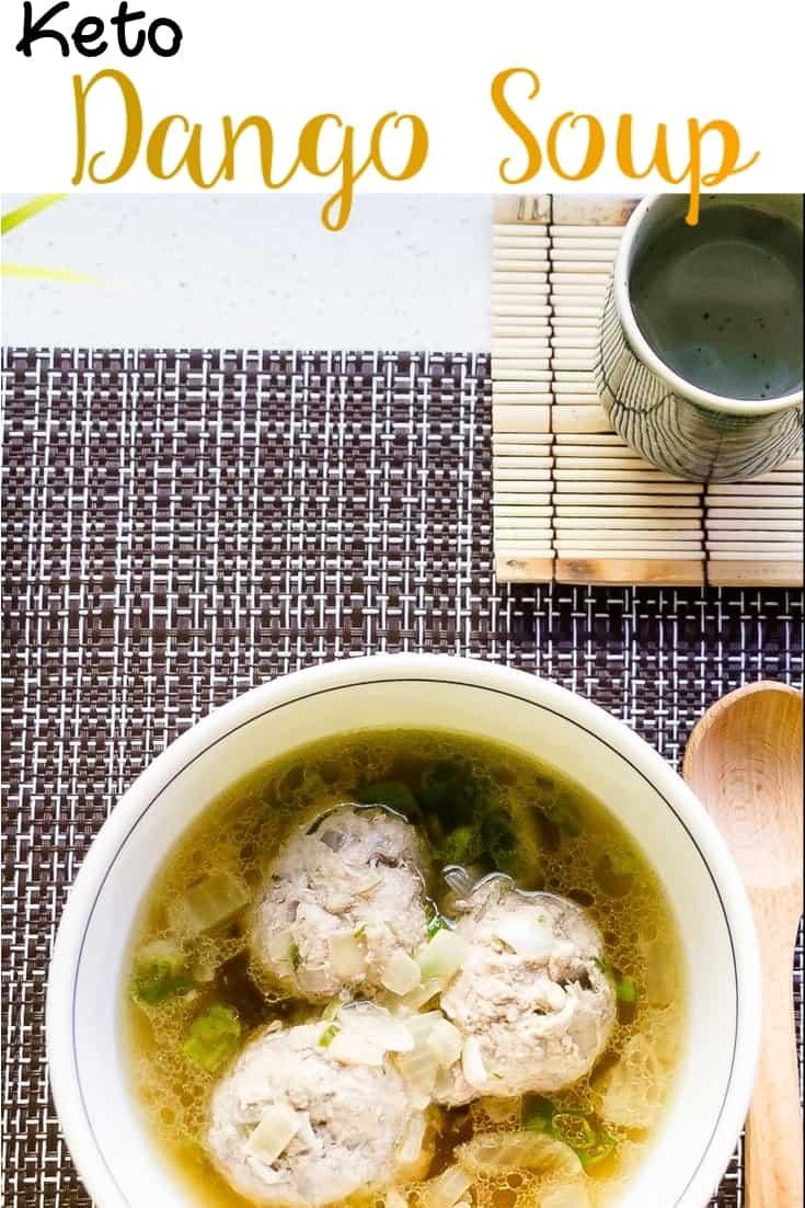 keto japanese Meatball (Dango) Soup pin 2