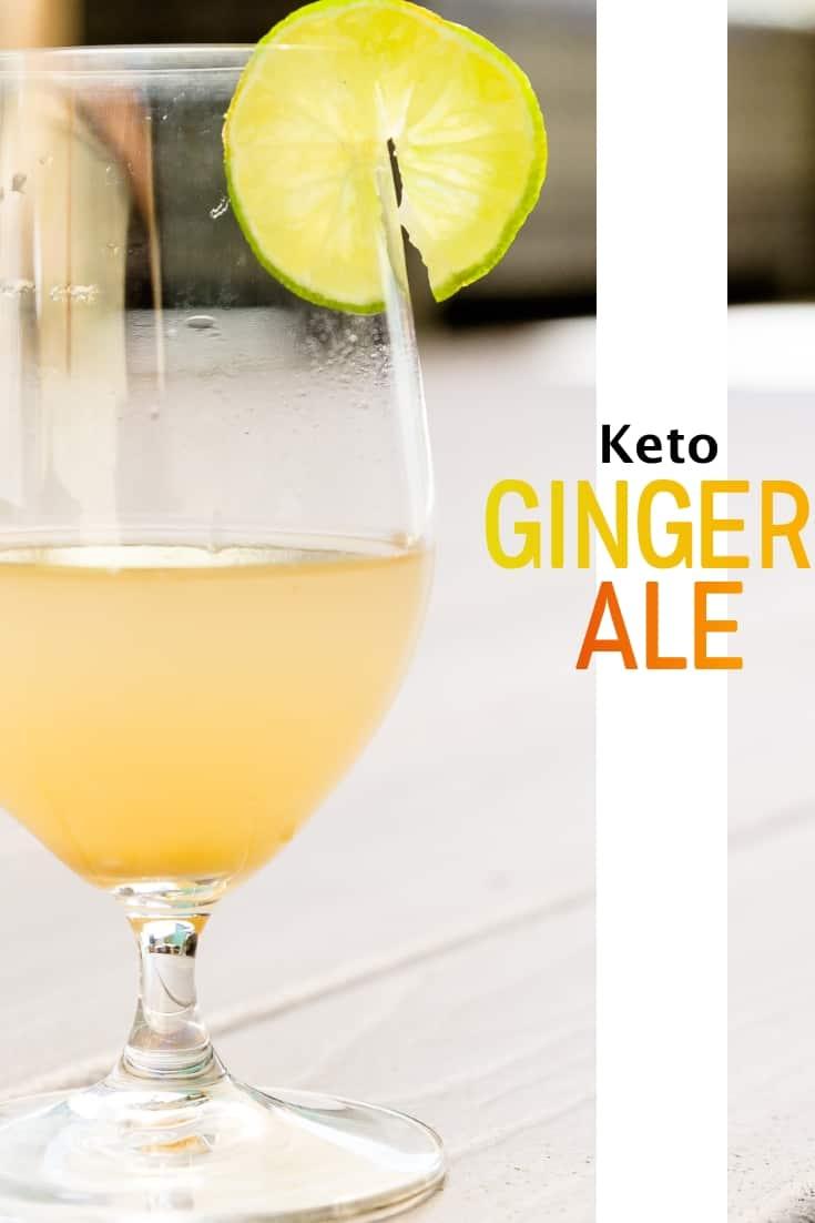 Homemade Keto Ginger Ale pin 1