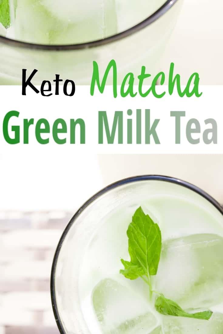 keto Matcha Green Milk Tea pin 2