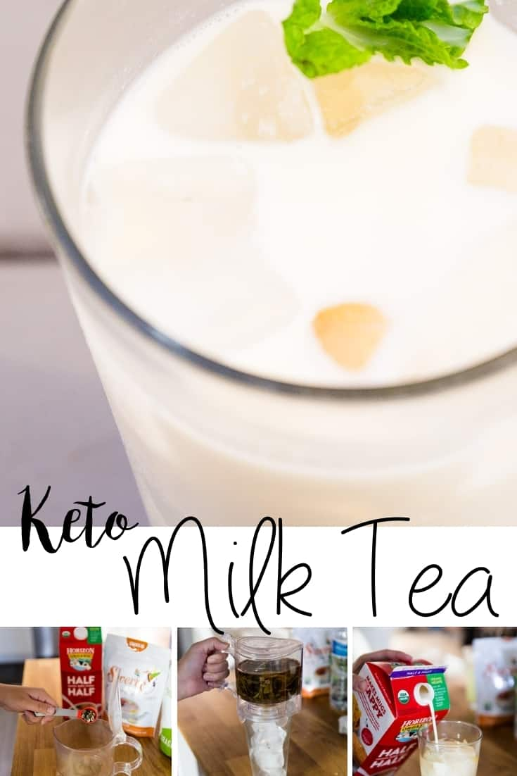 keto Homemade Milk Tea pin 2