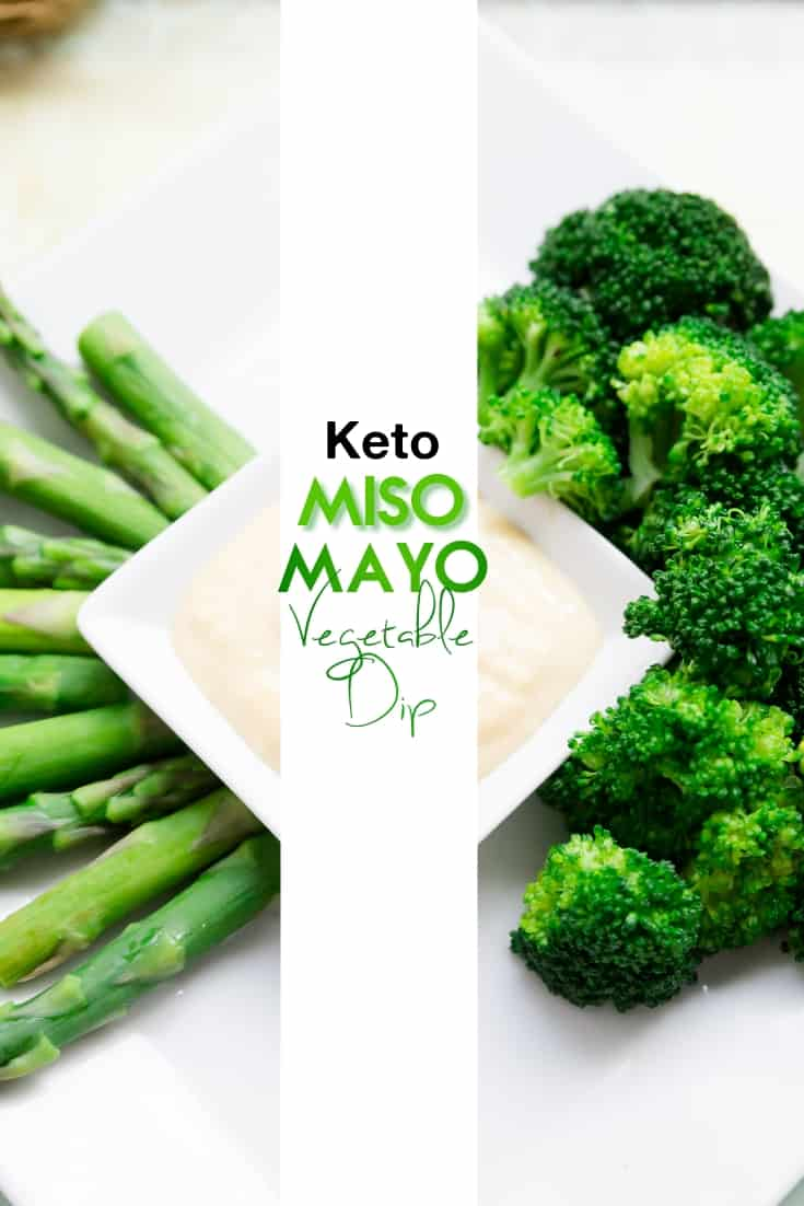 keto low carb Miso Mayo Vegetables pin 1