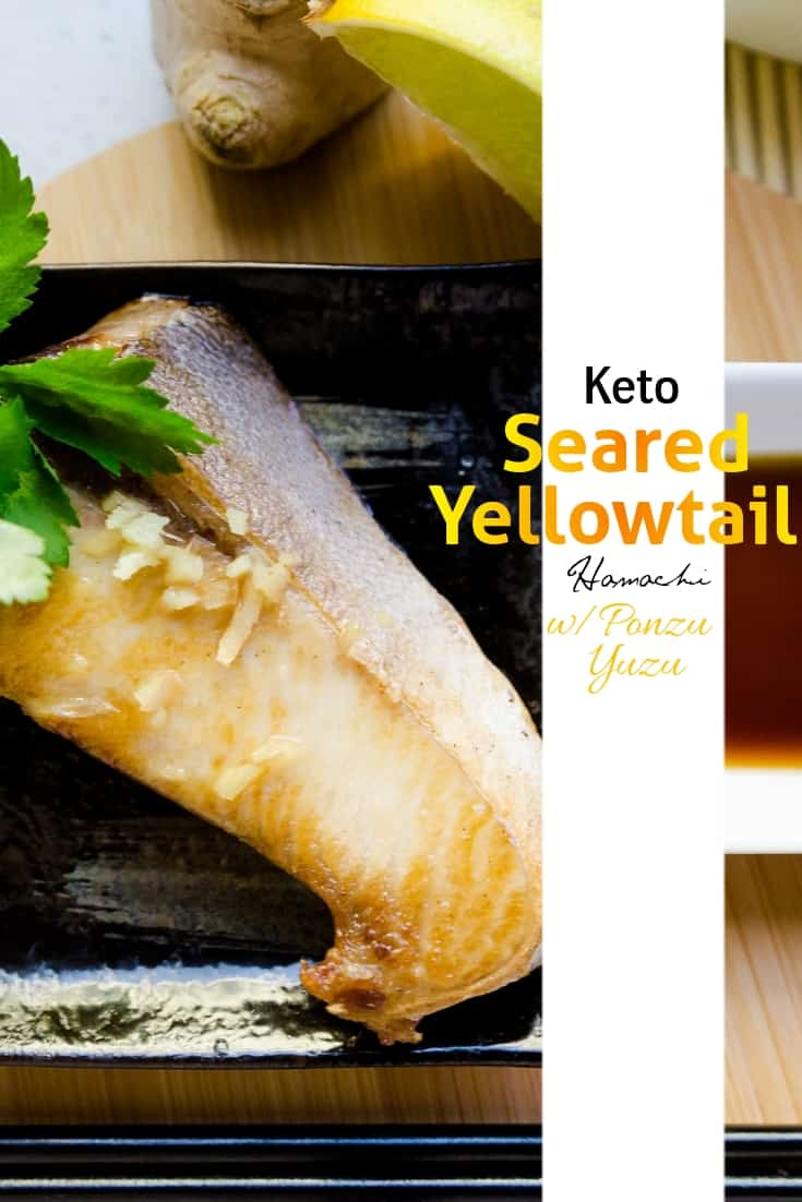 Seared Yellowtail Fillet | LowCarbingAsian