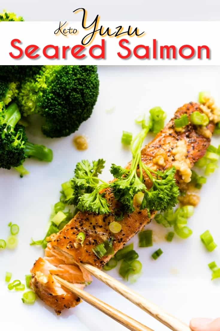 keto Yuzu Seared Salmon pin 1