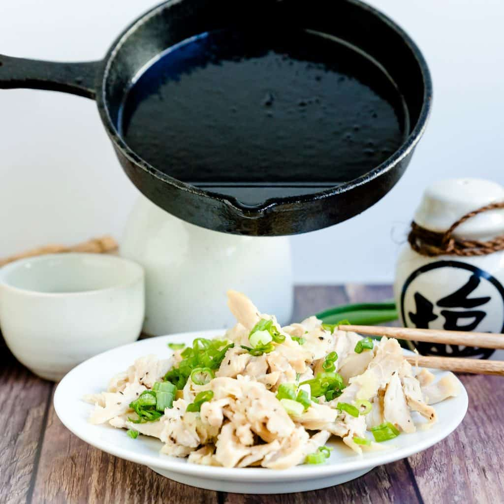 Pulled Garlic Chicken LowCarbingAsian Pic 1