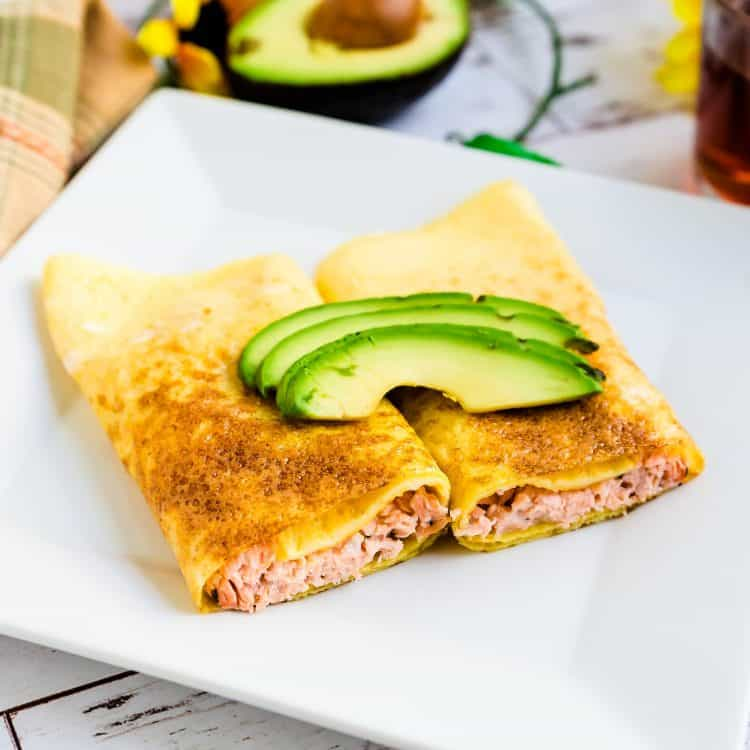 Salmon Cream Cheese Egg Roll Up LowCarbingAsian Cover