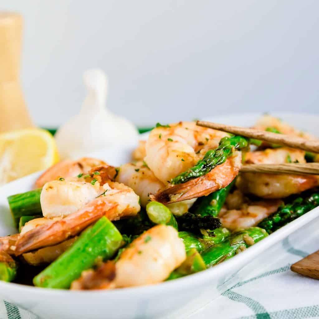 Shrimp Asparagus in Garlic Butter LowCarbingAsian Pic 2