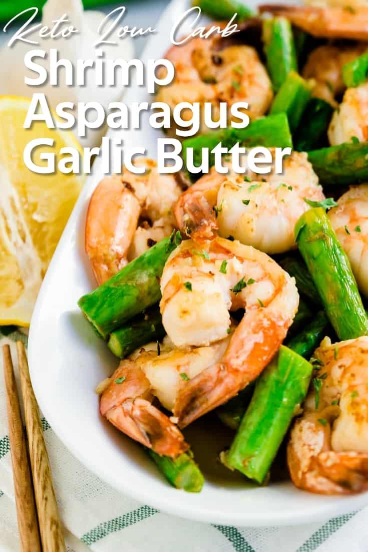 Shrimp Asparagus in Garlic Butter LowCarbingAsian Pin 1