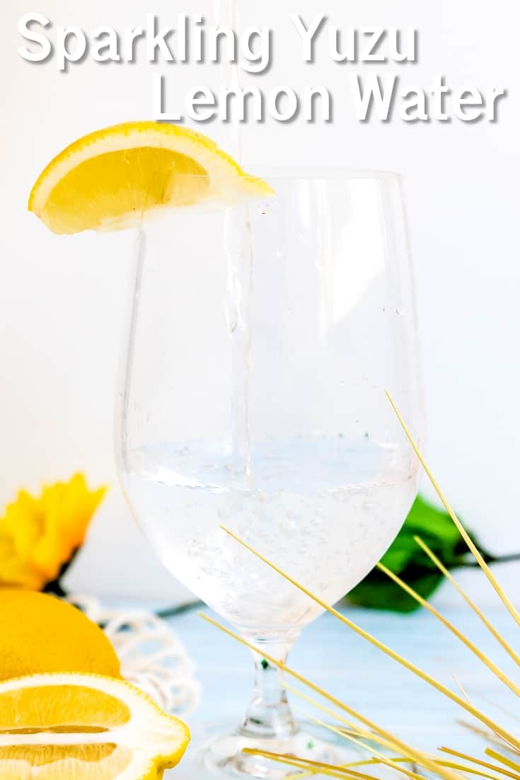 Sparkling Yuzu Lemon Water