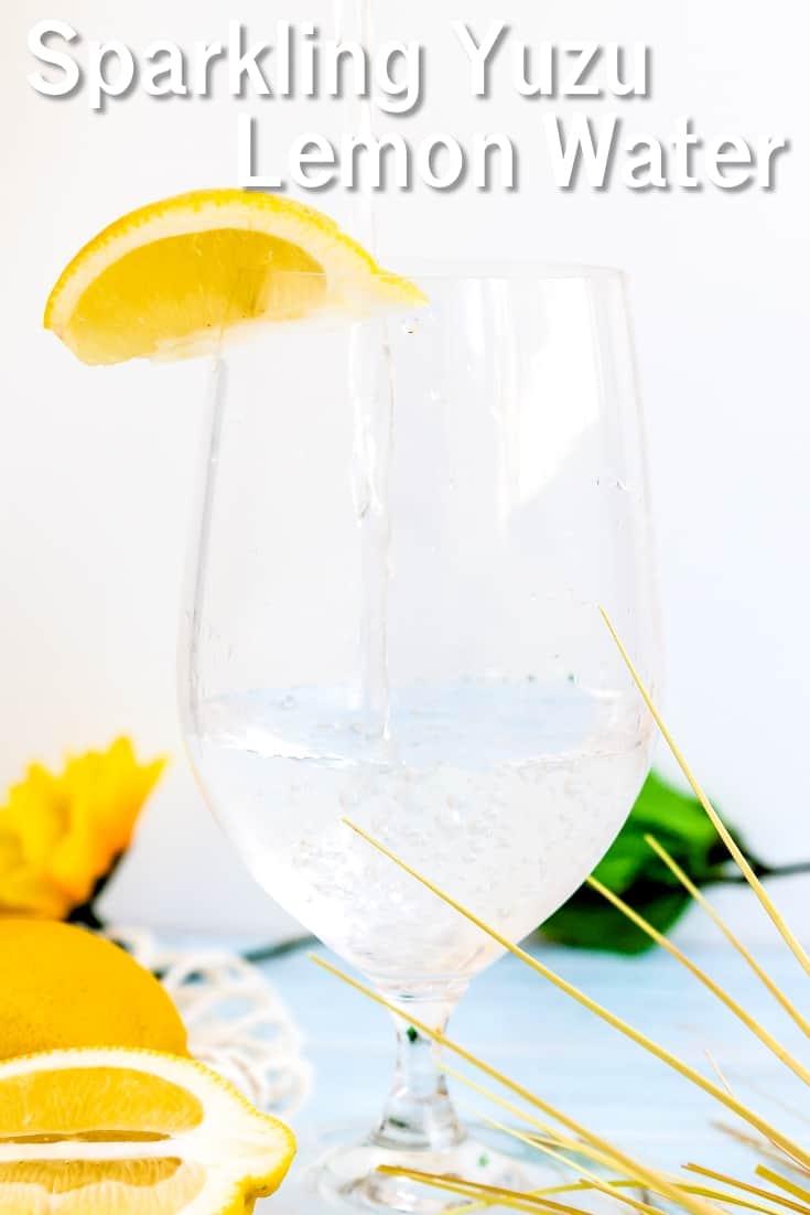 Sparkling Yuzu Lemon Water LowCarbingAsian Pin 1