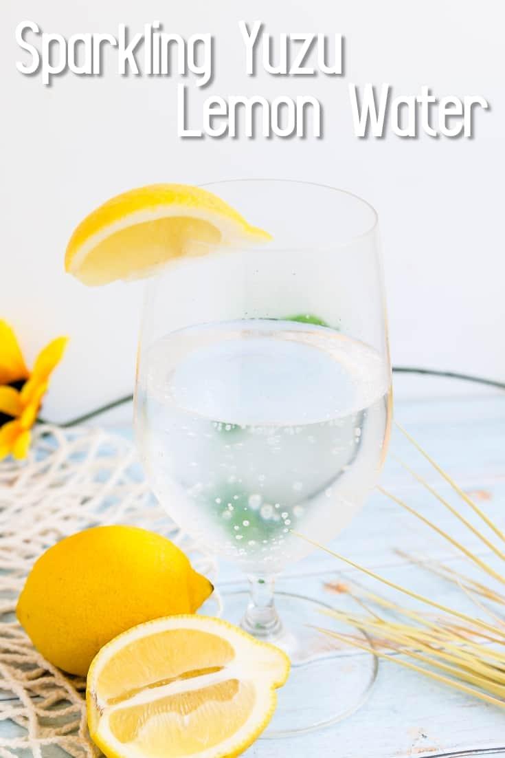 Sparkling Yuzu Lemon Water LowCarbingAsian Pin 2