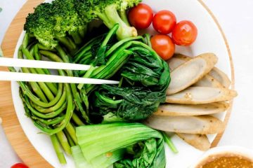 Steamed Veggie w Sesame Sauce LowCarbingAsian Cover 2