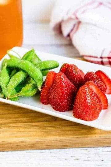 Strawberry & Sea Salt Garlic Edamame LowCarbingAsian Cover