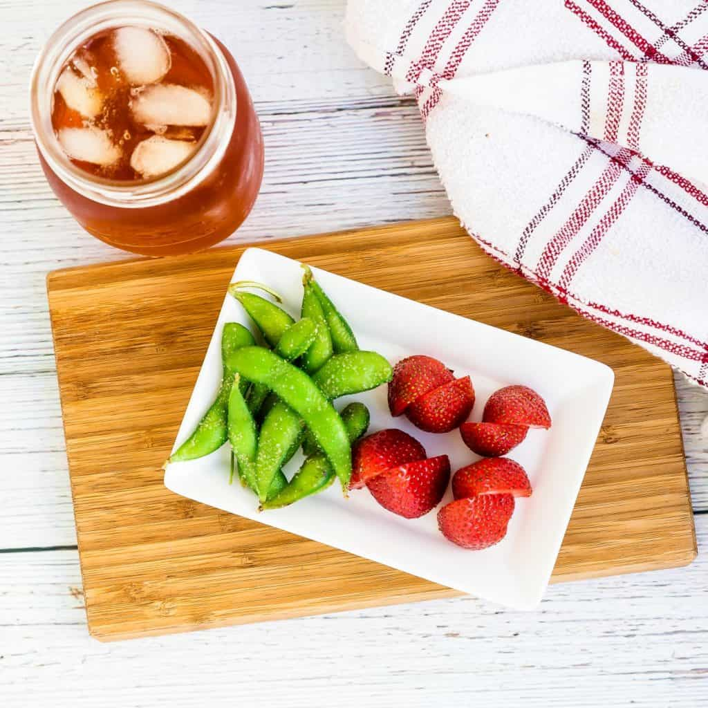 Strawberry & Sea Salt Garlic Edamame LowCarbingAsian Pic 1