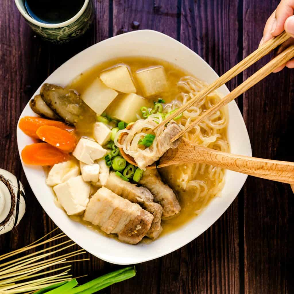 Tonjiru Pork Miso Soup LowCarbingAsian Pic 2