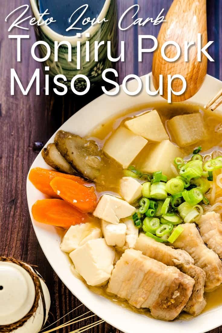 Tonjiru Pork Miso Soup LowCarbingAsian Pin 1