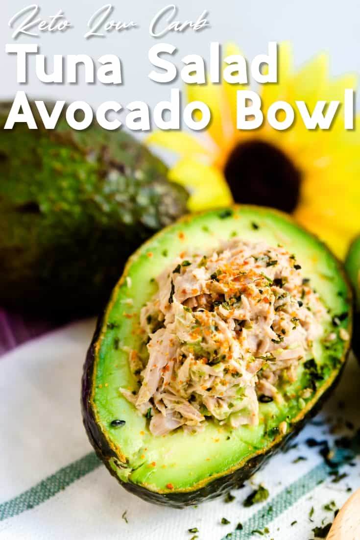Tuna Salad Avocado Bowl LowCarbingAsian Pin 1