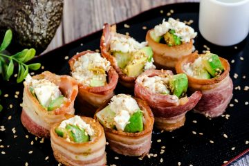 Bacon Wrapped Cream Cheese California Roll LowCarbingAsian Cover
