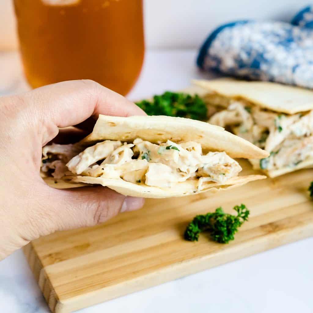 Crispy Chicken Cilantro Sandwich LowCarbingAsian Pic 1