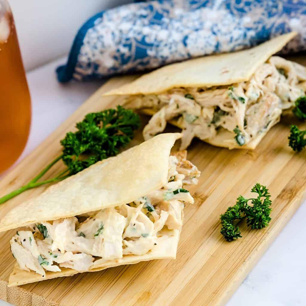 Crispy Chicken Cilantro Sandwich LowCarbingAsian Pic 2