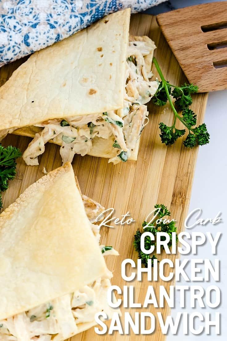 Crispy Chicken Cilantro Sandwich